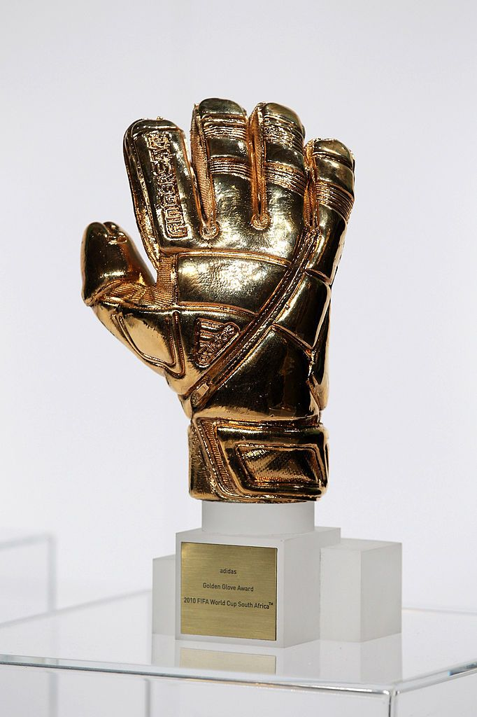HERZOGENAURACH, GERMANY - DECEMBER 14: The adidas Golden Glove Award is pictured during the FIFA 2010 World Cup adidas Golden Award ceremony at the adidas headquarters on December 14, 2010 in Herzogenaurach, Germany.  (Photo by Miguel Villagran/Getty Images for adidas)