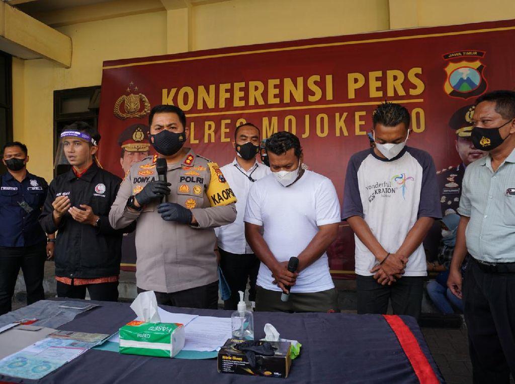 Sopir Truk Ini Maki-maki Polisi Saat Penyekatan PPKM Darurat di Mojokerto
