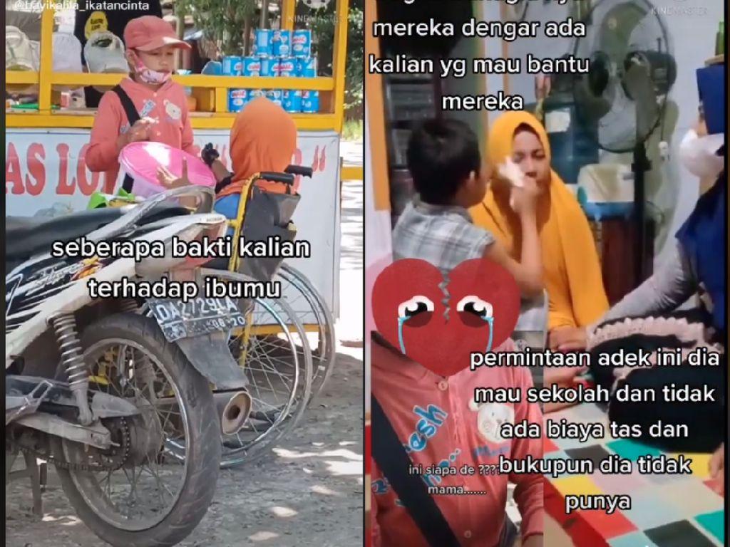 Bocah Ini Jual Keripik Keliling Sambil Dorong Ibunya di Kursi Roda Kisahnya Bikin Salut