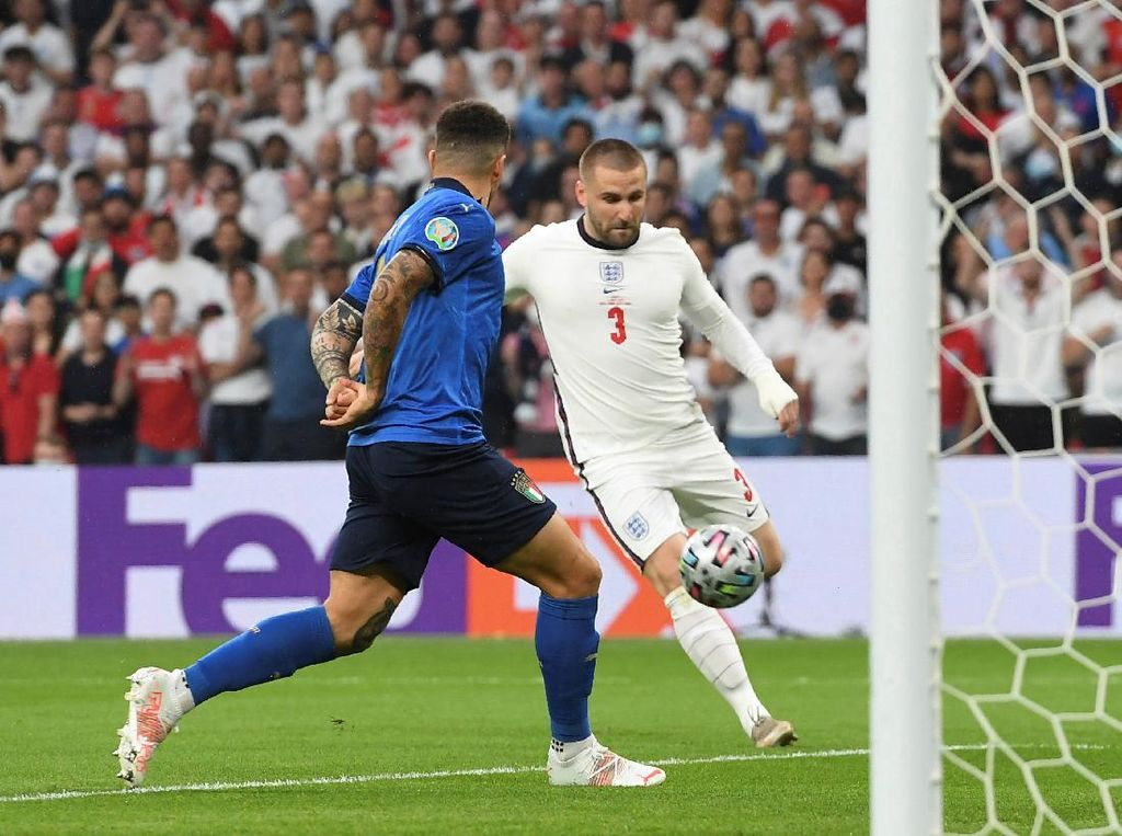 Luke Shaw Bikin Gol di Final Euro 2020, Begini Reaksi Solskjaer