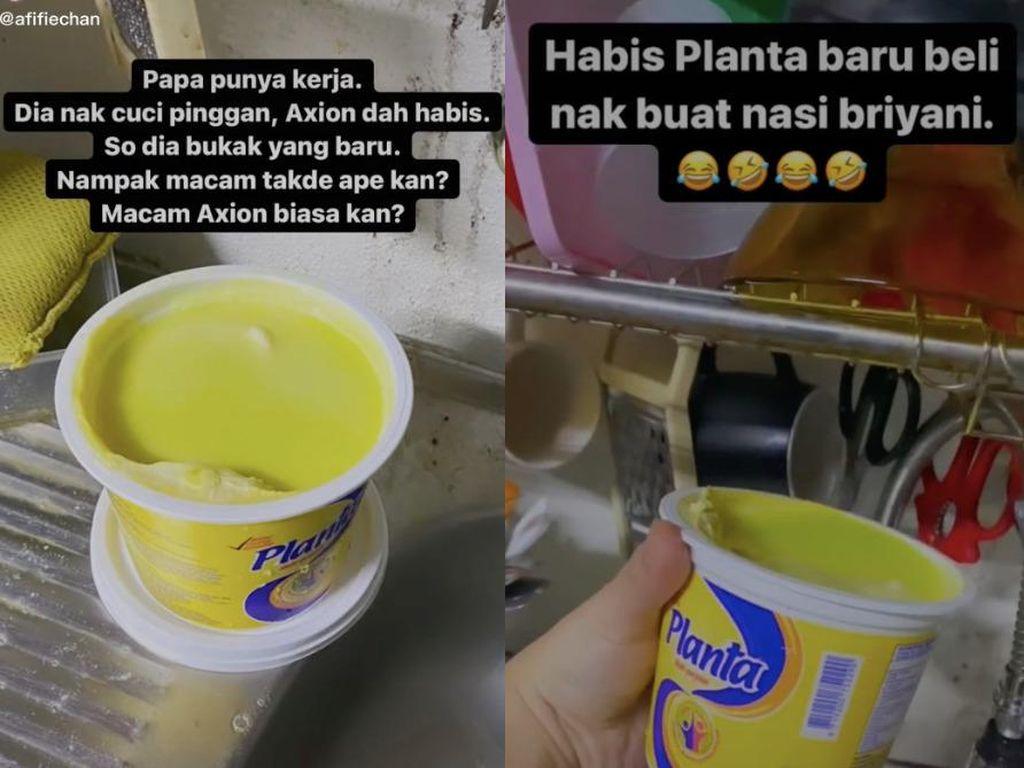Ngakak!Dikira Sabun Cuci Piring, Bapak-bapak Ini Cuci Piring Pakai Margarin