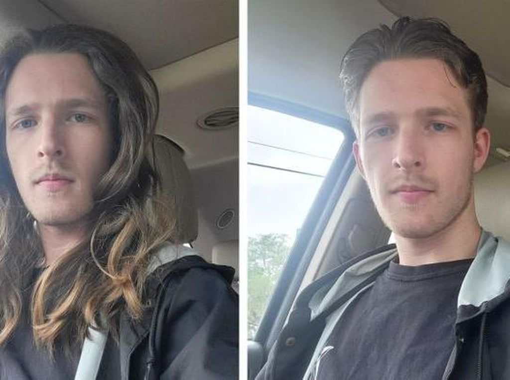 10 Pria Gondrong Potong Rambut, Hasilnya Bikin Terbengong-bengong