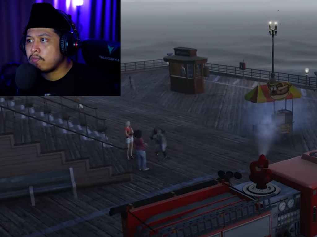 Tretan Muslim Sindir Aksi Semprot Pedagang Pakai Damkar di Game GTA V