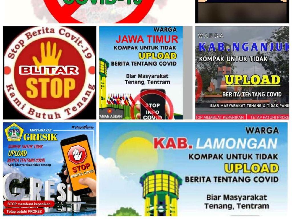 Polisi Selidiki Viral Poster Ajakan Tak Menyebar Berita COVID-19 di Jatim