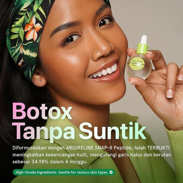 Botox in Bottle Dear Me Beauty Face Serum 8% SNAP-8 Peptide + Avocado Extract