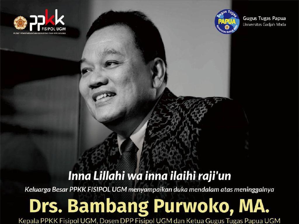 Pakar Ilmu Pemerintahan UGM Bambang Purwoko Meninggal Positif Corona