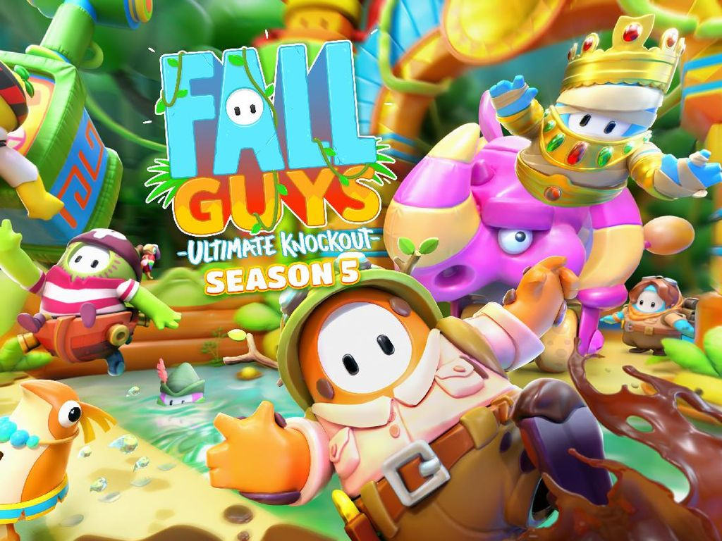 Fall Guys Hadirkan Skin Baru dan Tema Jungle di Season 5