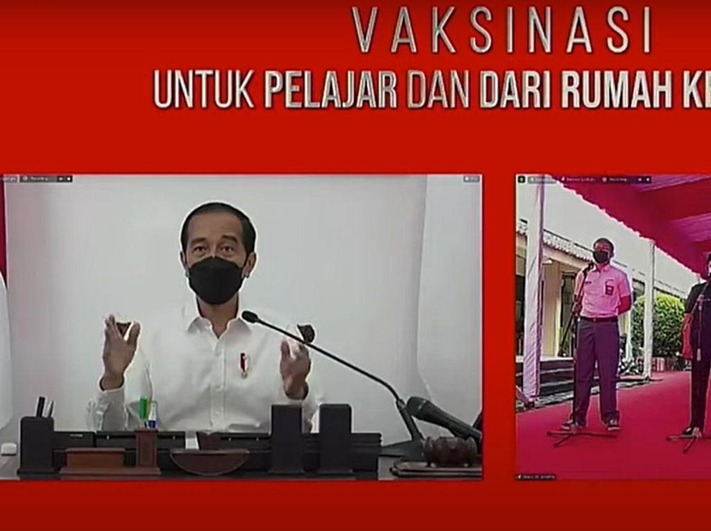 Kala Siswa Tanya Jokowi soal Pengaruh PPKM dengan Kenaikan Kasus COVID