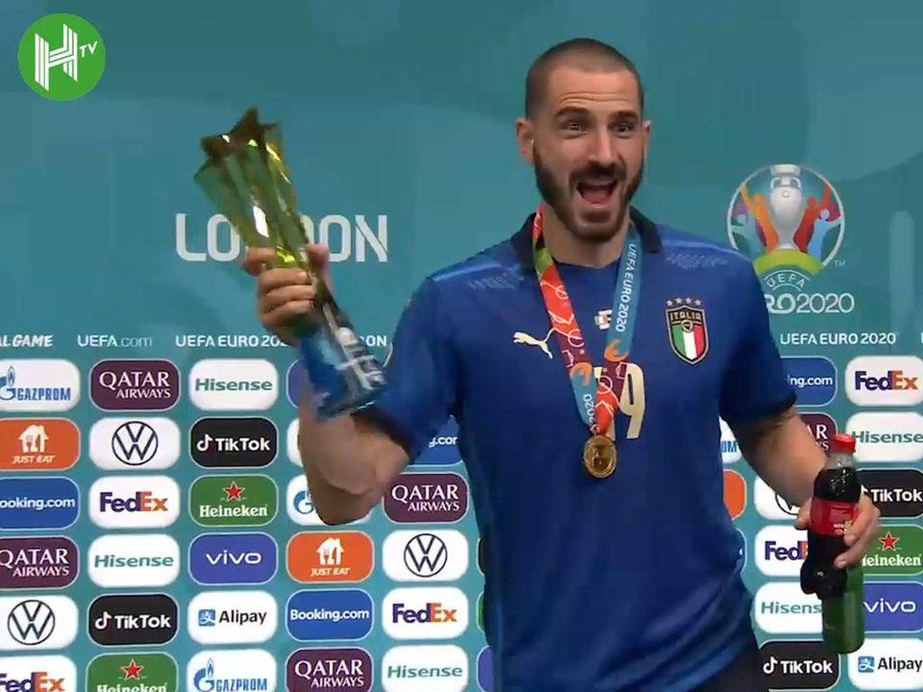 Video: Italia Juara, Bonucci Tenggak Heineken & Coca-Cola