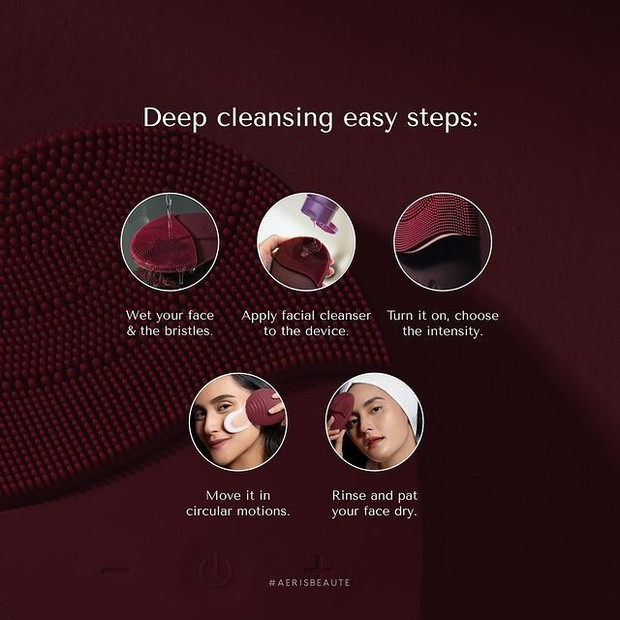 Pemakaian Smart Sonic Facial Cleanser
