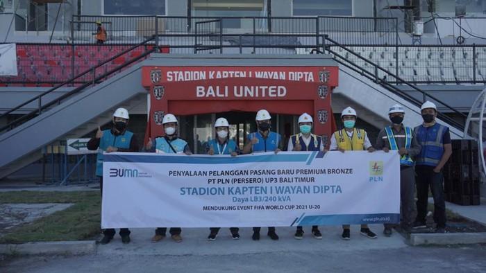 Stadion Kapten I Wayan Dipta dialiri listrik untuk Puala Dunia U-20 2023.