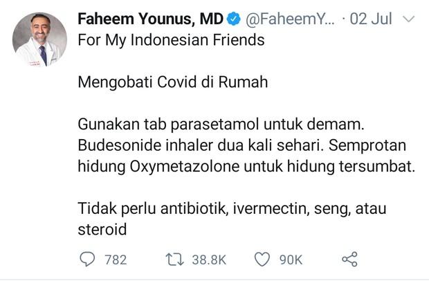 Dokter faheem younus dan cara mengobati covid di rumah