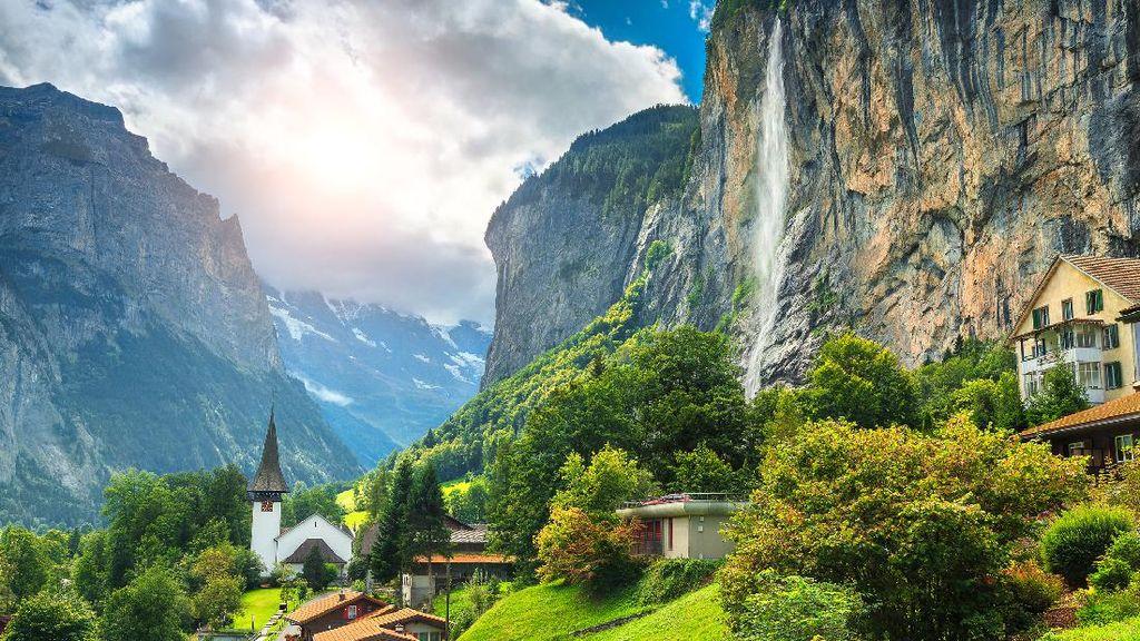Yang Segar-segar dari Swiss, Lembah Lauterbrunnen