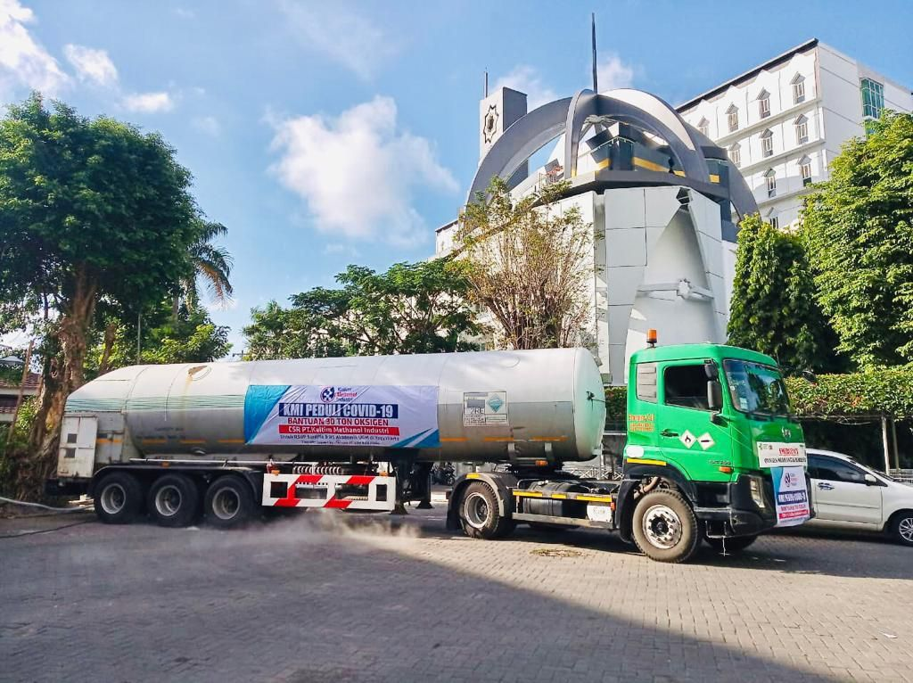 UGM Salurkan Bantuan 19 Ton Oksigen untuk RSUP Dr Sardjito