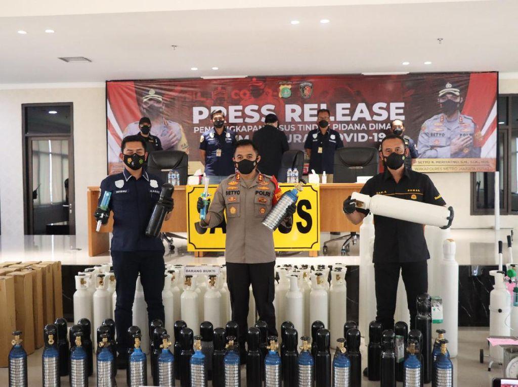 Importir Nakal di Jakpus Raup Rp 300 Juta dari Penjualan Tabung Oksigen