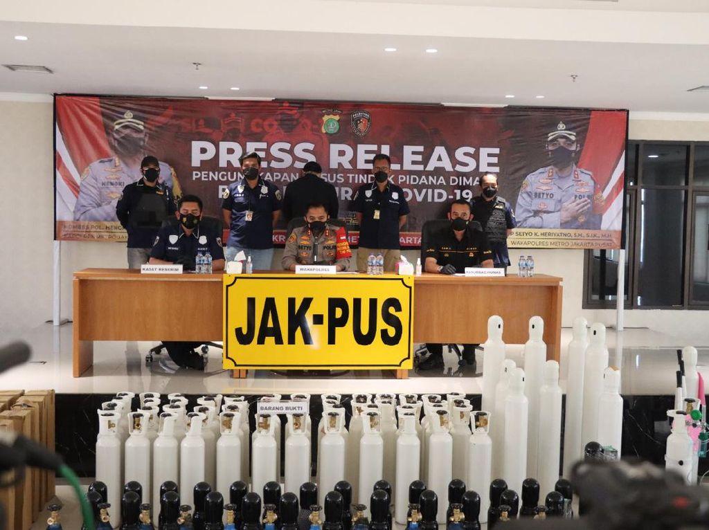 Jual Tabung Oksigen Harga 2 Kali Lipat, Importir Nakal di Jakpus Ditangkap!