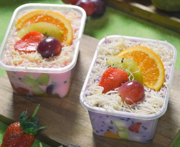 Dessert enak salad buah untuk idul adha yang menggugah selera/ Foto: instagram.com/bunda.qiya