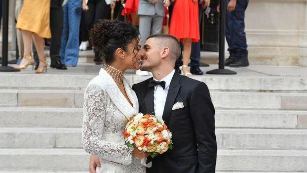 Jessica Aidi dan Marco Verratti.