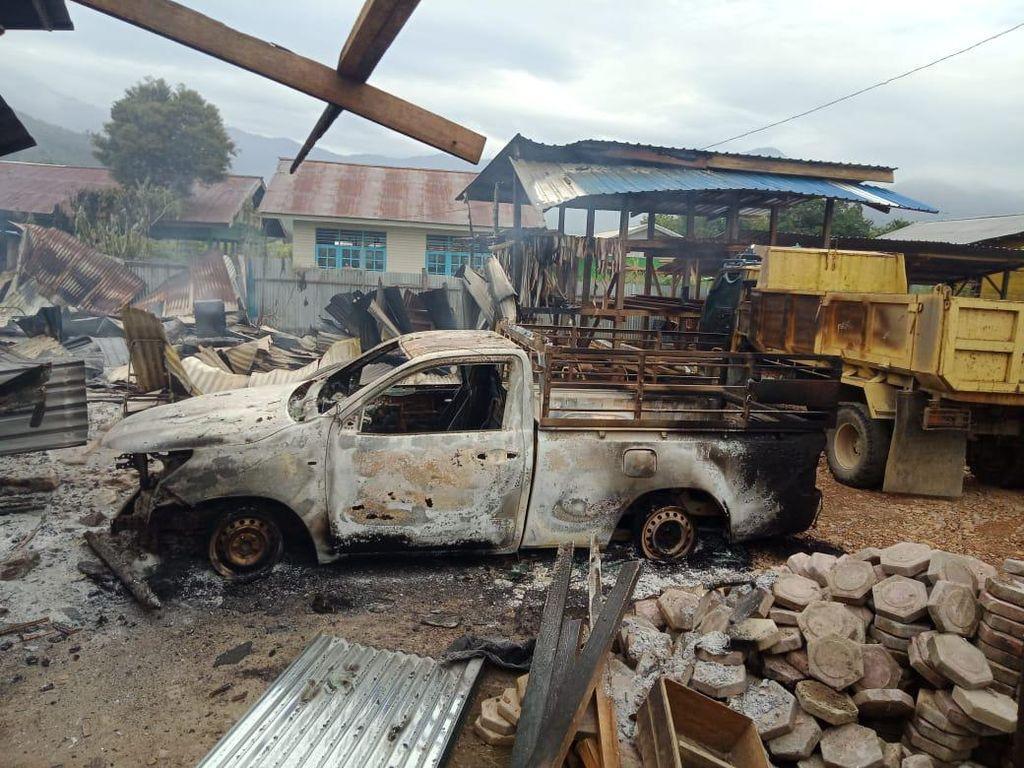 Pembakaran Rumah-Kios di Dogiyai Papua, 2 Anggota Paskhas AU Jadi Korban