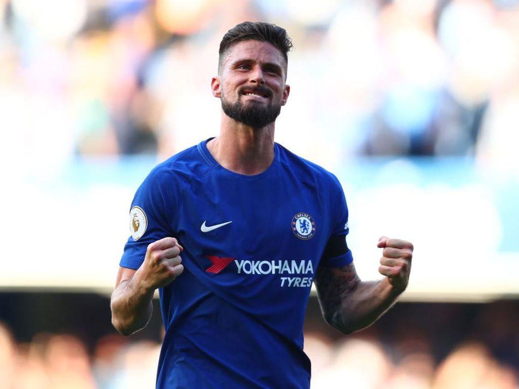 Giroud Tinggalkan Chelsea dengan Gol Salto Cantik