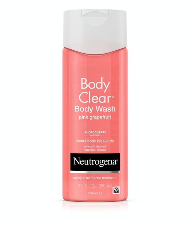 Johnson & Johnson Neutrogena Body Clear Pink Grapefruit Salicylic Acid Acne Treatment Body Wash / foto : neutrogena.com