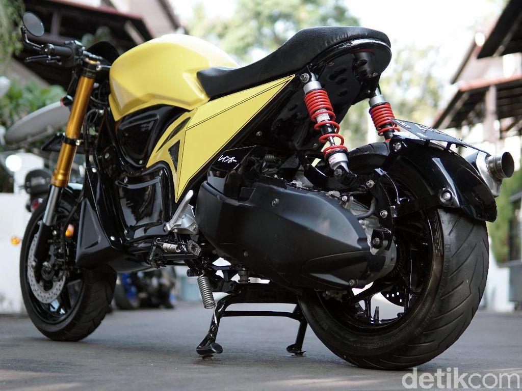 Berubah Total! Intip Modifikasi Yamaha Xmax 250 Jadi Cafe Racer