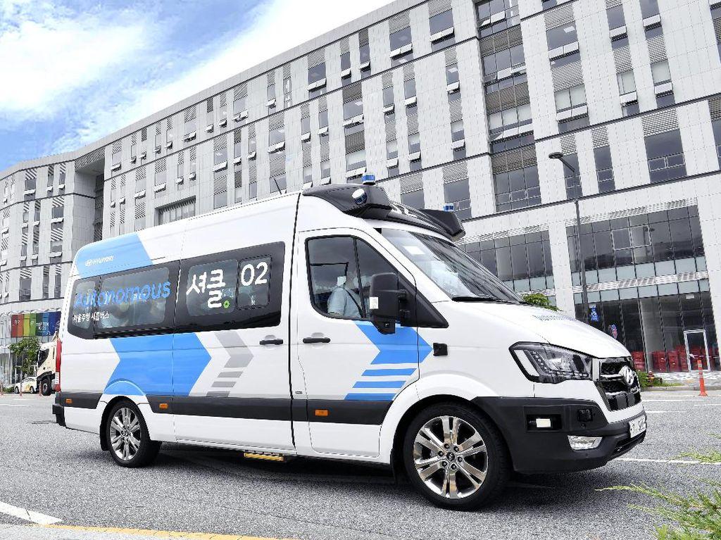 Canggih! Hyundai Siapkan Shuttle Bus yang Bisa Nyetir Sendiri