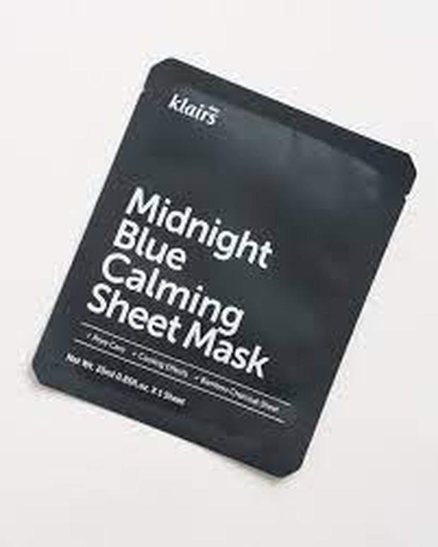Dear Klairs Midnight Blue Calming Sheet Mask / Foto : sokoglam.com