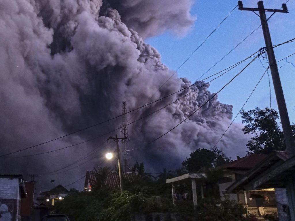 Potret Terkini Dahsyatnya Erupsi Gunung Sinabung