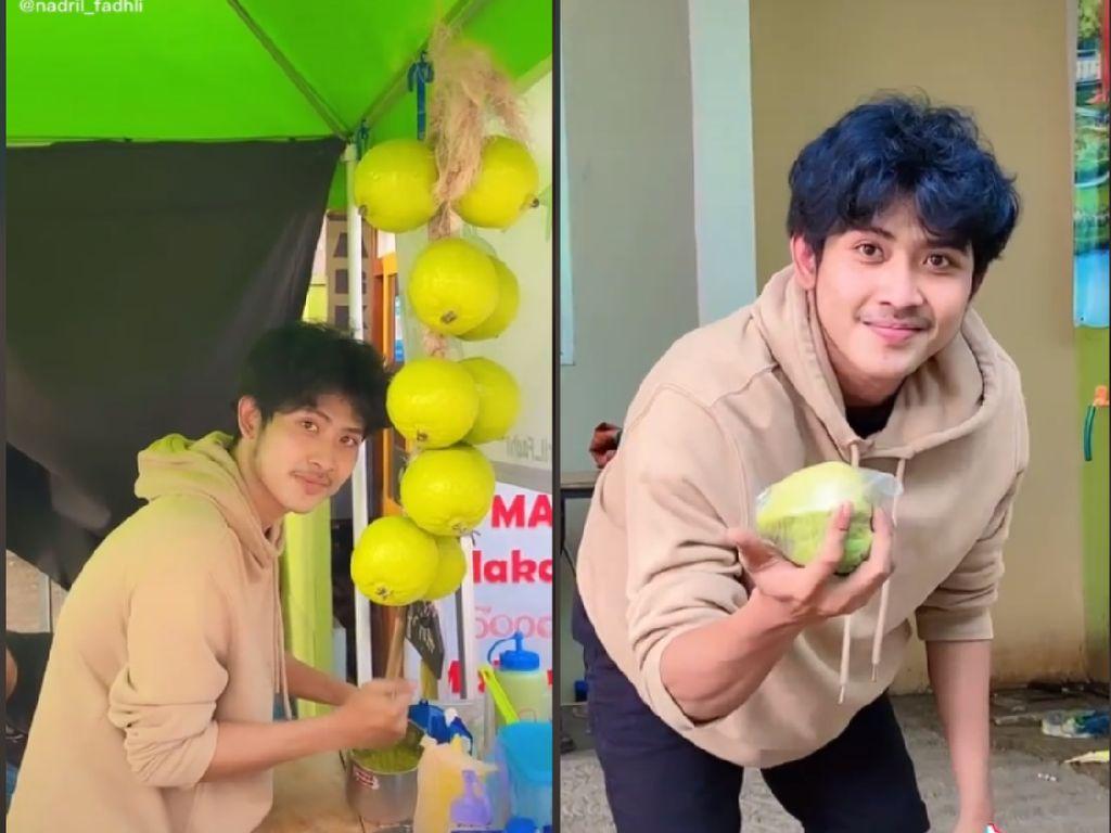 Muda dan Tampan, Penjual Alpukat Kocok ini Viral Dipuji Netizen