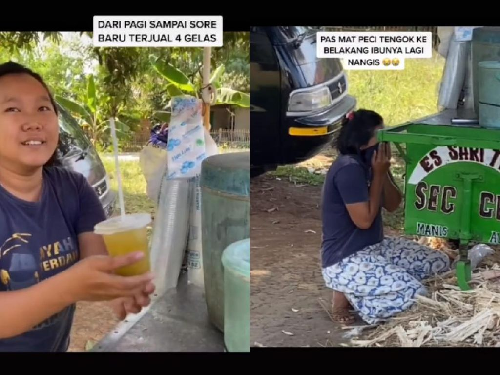 Viral Penjual Nangis Terharu Ketika Segelas Es Tebu Ditawar Rp 500 Ribu