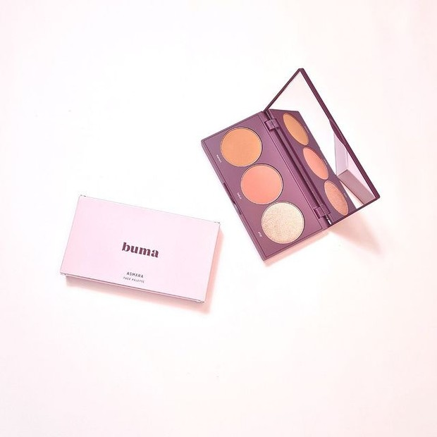 Asmara Face Palette terdiri dari Bronzer, Blush, Highlighter