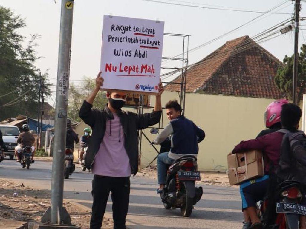 Soroti PPKM Darurat, Barudak Majalaya Bandung Curhat Lewat Poster