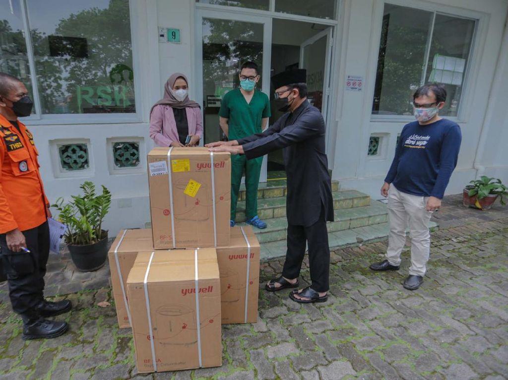 Satgas Kota Bogor Salurkan Bantuan 100 Oksigen Konsentrator ke RS