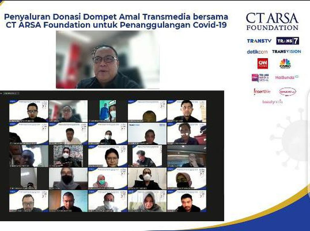 Dompet Amal Transmedia-CT ARSA Salurkan Bantuan Penanganan Corona Tahap 10