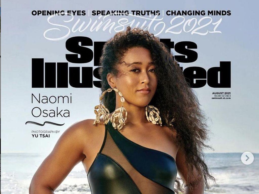 7 Gaya Seksi Naomi Osaka Berbalut Baju Renang di Majalah Olahraga