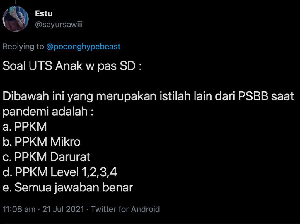 8 Plesetan PPKM ala Netizen Indonesia Ini Kocak Abis, Bikin Bosan Jadi Hilang