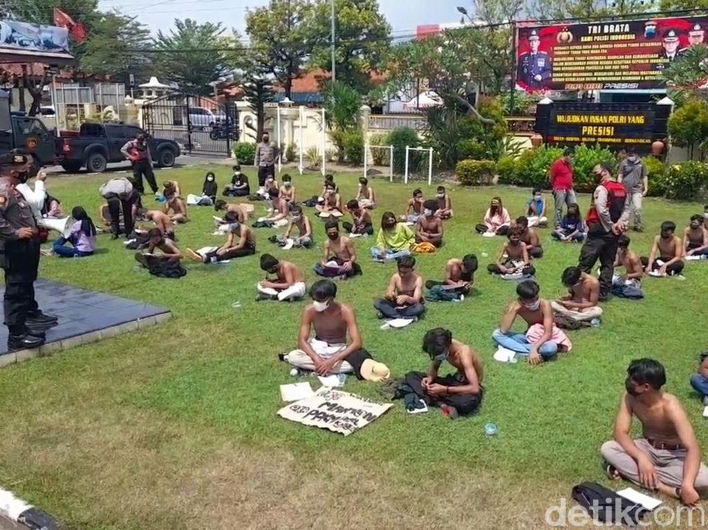 Termakan Hoax Demo Tolak PPKM Darurat, 59 Remaja Diamankan di Brebes