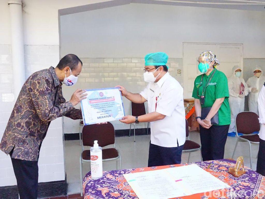 RSU Soetomo Terima Bantuan Kontainer untuk Rawat Pasien COVID-19
