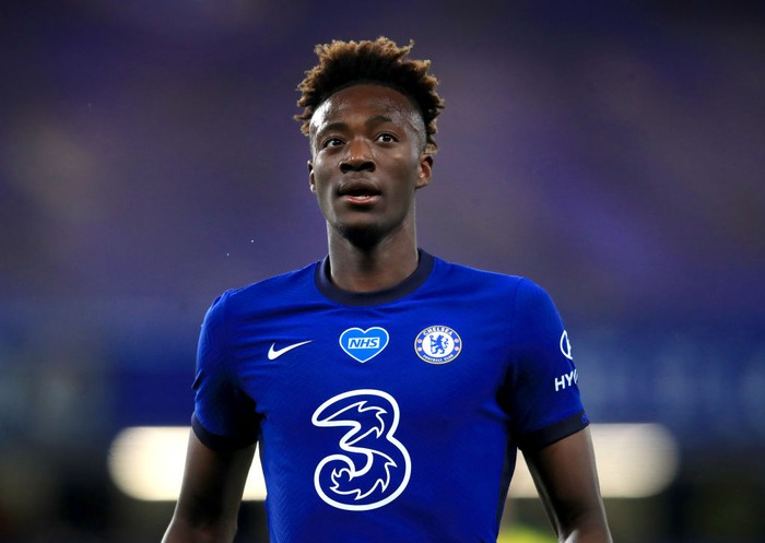 LONDON, ENGLAND - JULY 14: Tammy Abraham of Chelsea looks on during the Premier League match between Chelsea FC and Norwich City at Stamford Bridge on July 14, 2020 in London, England. Football Stadiums around Europe remain empty due to the Coronavirus Pandemic as Government social distancing laws prohibit fans inside venues resulting in all fixtures being played behind closed doors. (Photo by Adam Davy/Pool via Getty Images)