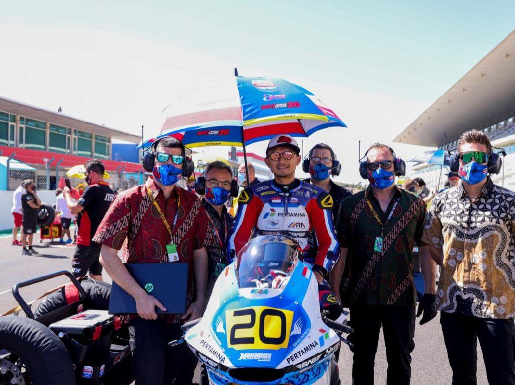 Dimas Ekky Tak Bisa Balapan di FIM CEV Moto2 Aragon karena...