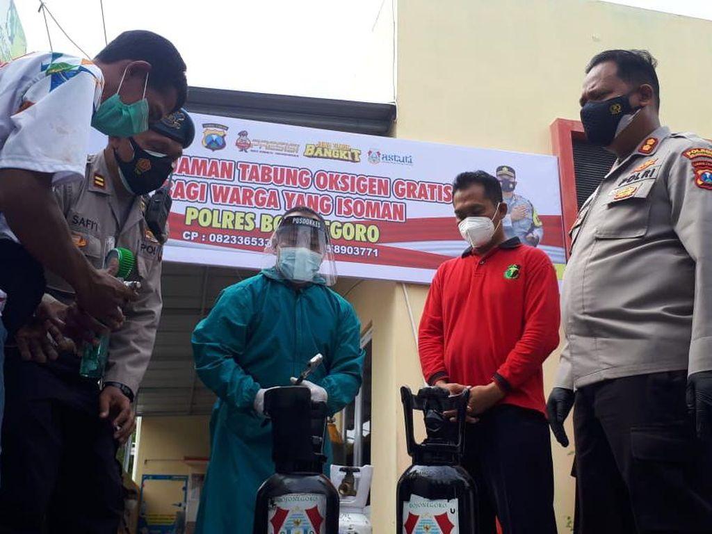 Polisi Bojonegoro Buka Layanan Oksigen Gratis untuk Warga Isoman