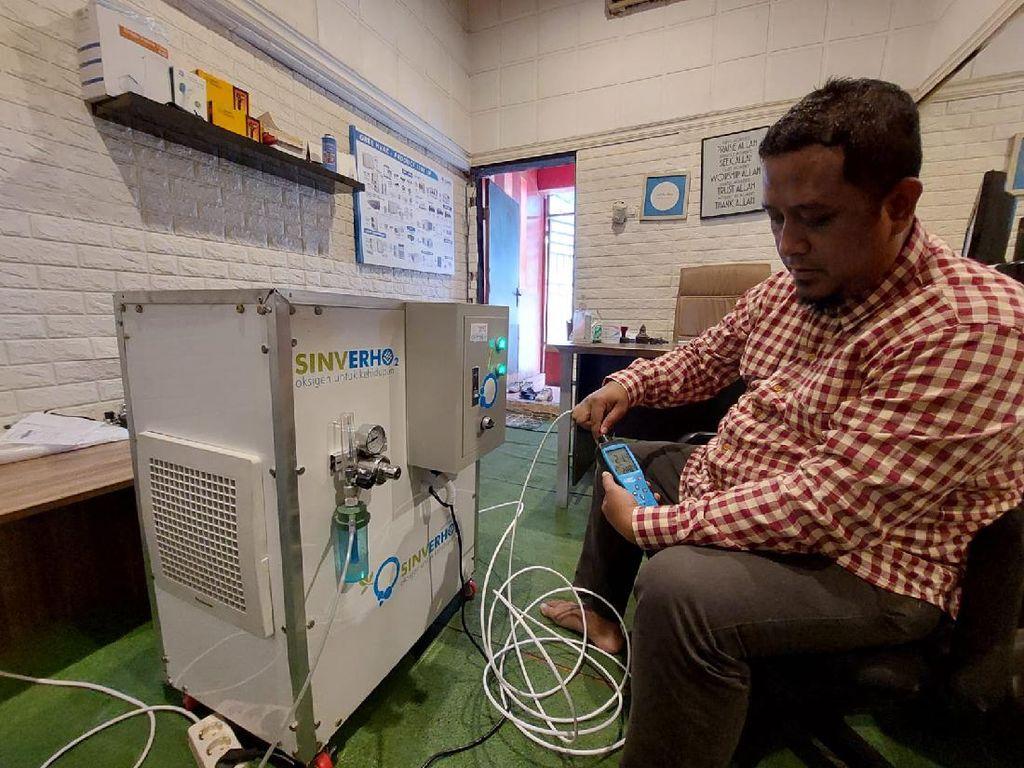 Pria Cimahi Bikin Oxygen Maker di Tengah Kelangkaan Tabung Oksigen