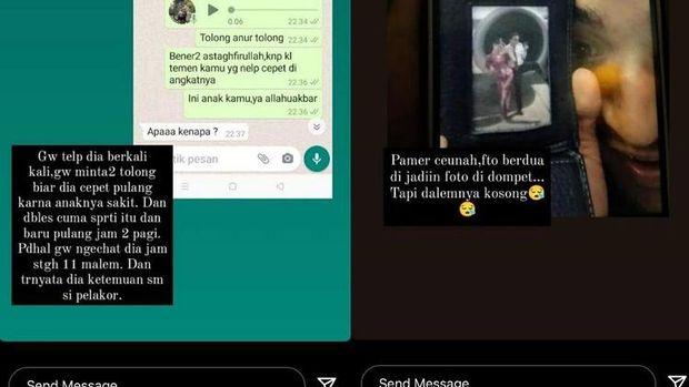 Percakapan antara Sinta Rizki dan suaminya Pramugara Lion Air yang menelantarkan anak tengah sakit.
