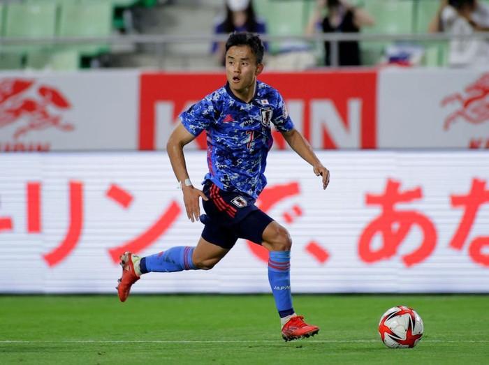 KOBE, JAPAN - JULY 17: Takefusa Kubo of Japan in action during the U-24 international friendly match between Japan and Spain at the Noevir Stadium Kobe on July 17, 2021 in kobe, Hyogo, Japan. (Photo by Koki Nagahama/Getty Images)