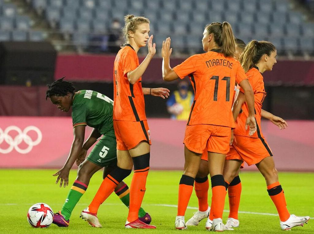 Olimpiade 2020: Zambia Vs Belanda Lahirkan 13 Gol, 2 Hat-trick