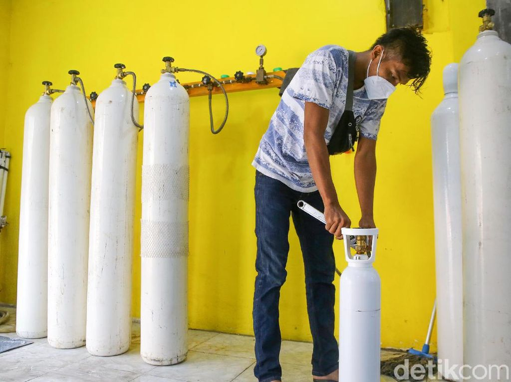 Sempat Meroket, Harga Tabung Oksigen Mulai Turun ke Rp 1,5 juta
