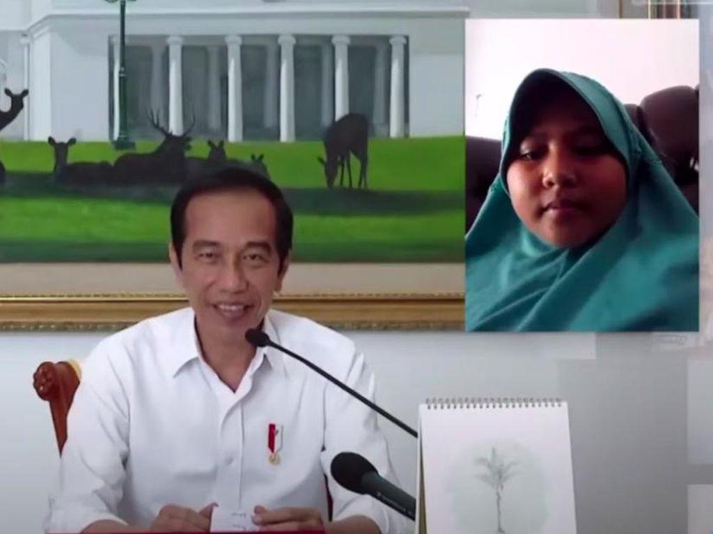 Momen Polos Anak SD Tanya Jokowi: Kalau Jadi Presiden Ngapain Aja Pak?