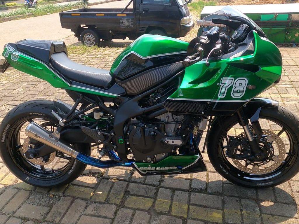 Menolak Takdir, Kawasaki Ninja ZX-25R Ini Dimodifikasi Jadi Motor Cafe Racer