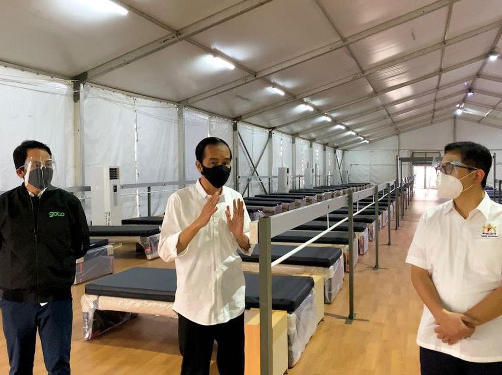 Jokowi Tinjau Rumah Oksigen Gotong Royong di Jaktim, Bisa Tampung 500 Pasien